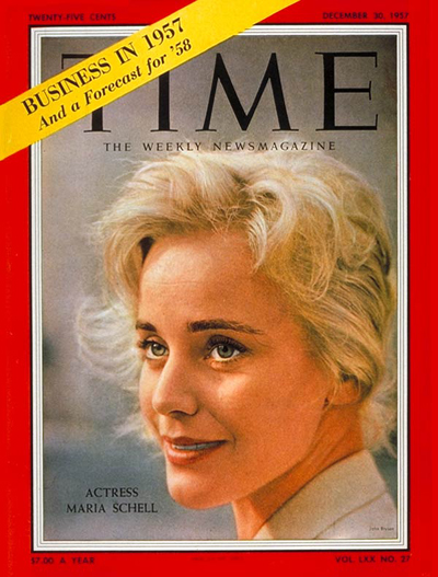 TIME Magazine Cover: Maria Schell -- Dec. 30, 1957