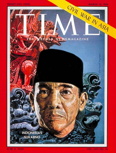 TIME Magazine Cover: Sukarno -- Mar. 10, 1958