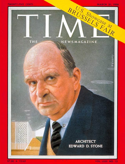 TIME Magazine Cover: Edward Stone -- Mar. 31, 1958