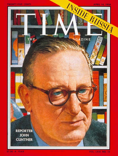 TIME Magazine Cover: John Gunther -- Apr. 14, 1958