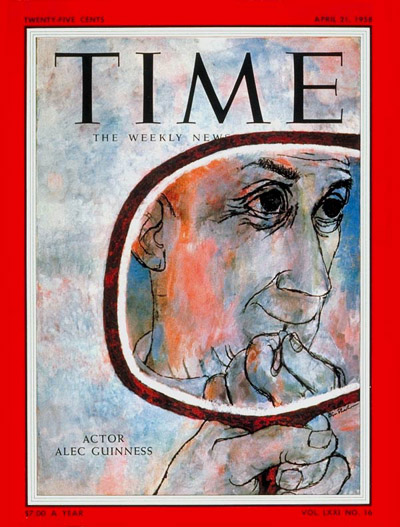 TIME Magazine Cover: Alec Guinness -- Apr. 21, 1958