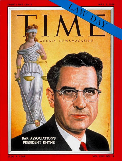 TIME Magazine Cover: Charles Rhyne -- May 5, 1958