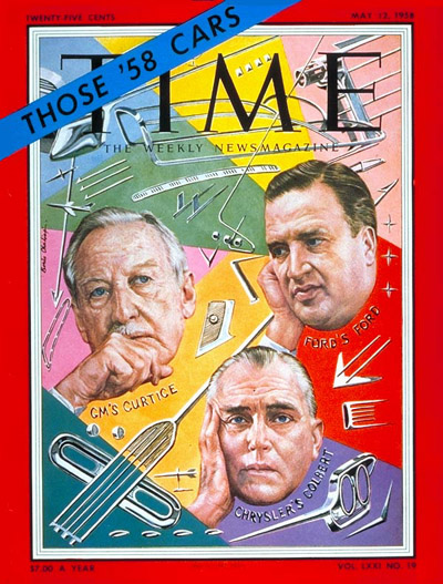 TIME Magazine Cover: Harlow Curtice, Henry Ford & Lester Colbert -- May 12, 1958
