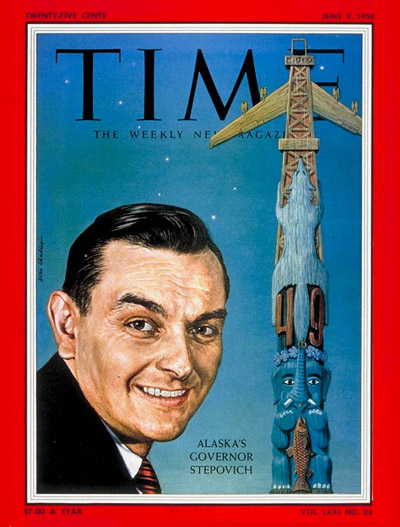 TIME Magazine Cover: Michael Stepovich -- June 9, 1958