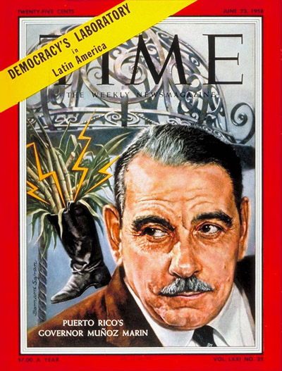 TIME Magazine Cover: Luis Munoz Marin -- June 23, 1958