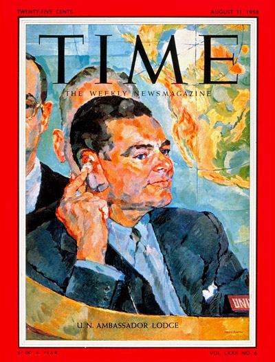 TIME Magazine Cover: Henry Cabot Lodge -- Aug. 11, 1958