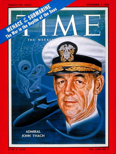 TIME Magazine Cover: Rear Adm. John Thach -- Sep. 1, 1958
