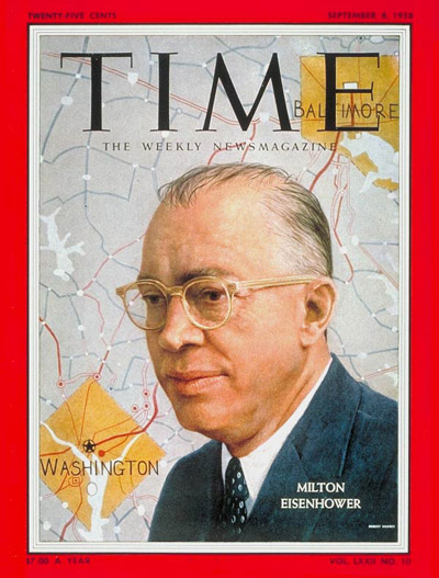 TIME Magazine Cover: Milton Eisenhower -- Sep. 8, 1958