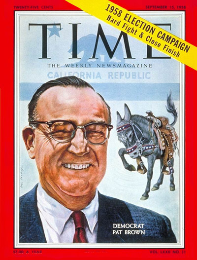 TIME Magazine Cover: Edmund Brown -- Sep. 15, 1958
