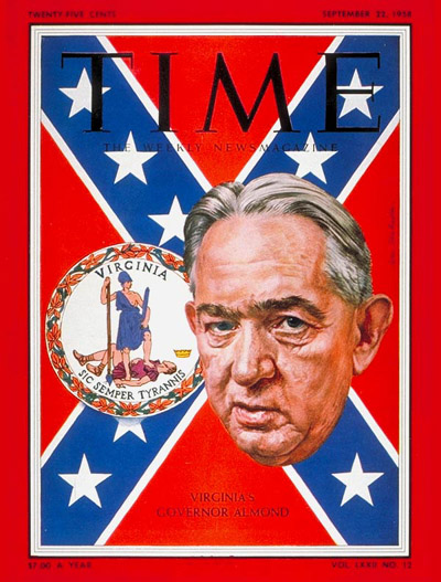 TIME Magazine Cover: J. Lindsey Almond Jr. -- Sep. 22, 1958