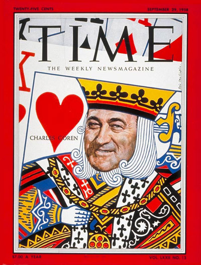 TIME Magazine Cover: Charles Goren -- Sep. 29, 1958