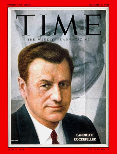 TIME Magazine Cover: Nelson Rockefeller -- Oct. 6, 1958
