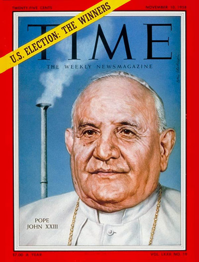 TIME Magazine Cover: Pope John Paul XXIII -- Nov. 10, 1958