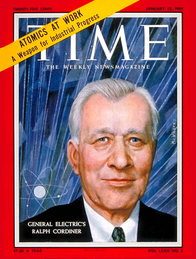TIME Magazine Cover: Ralph J. Cordiner -- Jan. 12, 1959