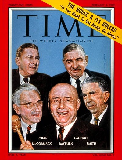 Clockwise from top left: Wilbur Mills, Clarence Cannon, Howard W. Smith, Samuel Rayburn & John W. McCormack.