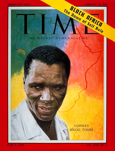 TIME Magazine Cover: Sekou Toure -- Feb. 16, 1959