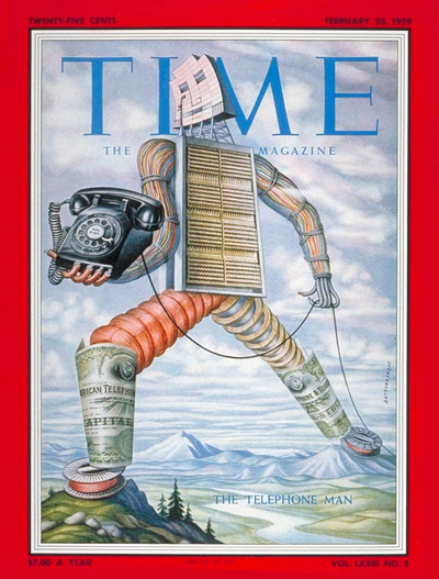 TIME Magazine Cover: The Telephone Man -- Feb. 23, 1959