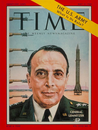 TIME Magazine Cover: General Lyman Lemnitzer -- May 11, 1959