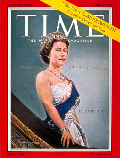 TIME Magazine Cover: Queen Elizabeth II -- June 29, 1959