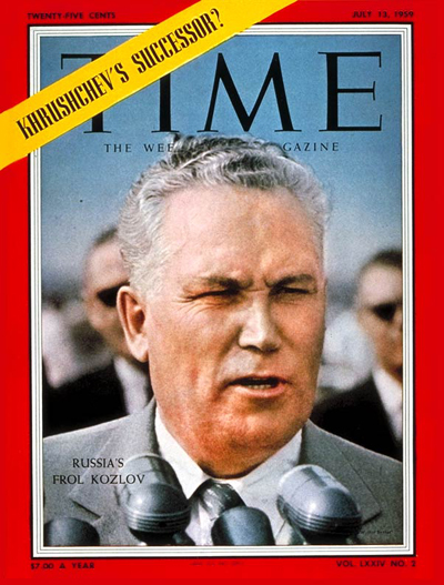 TIME Magazine Cover: Frol Kozlov -- July 13, 1959