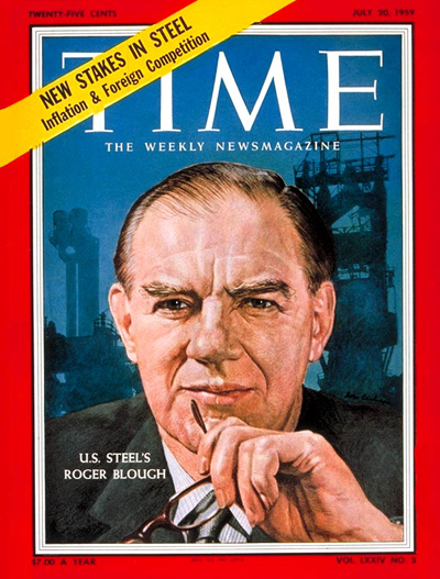 TIME Magazine Cover: Roger Blough -- July 20, 1959