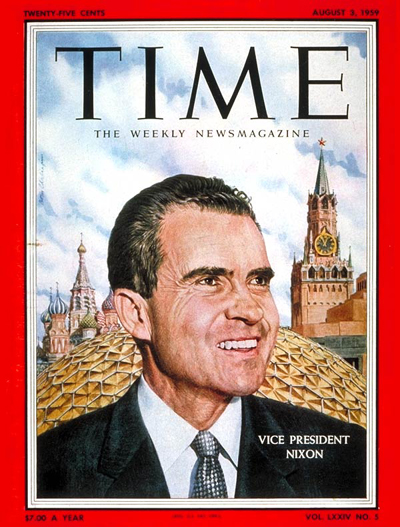 time magazine cover  richard nixon - aug  3  1959