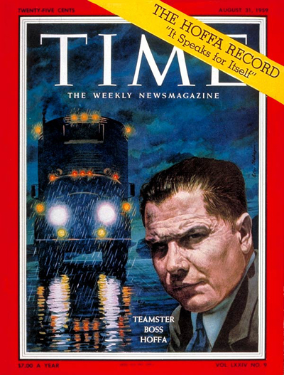 TIME Magazine Cover: James Hoffa -- Aug. 31, 1959