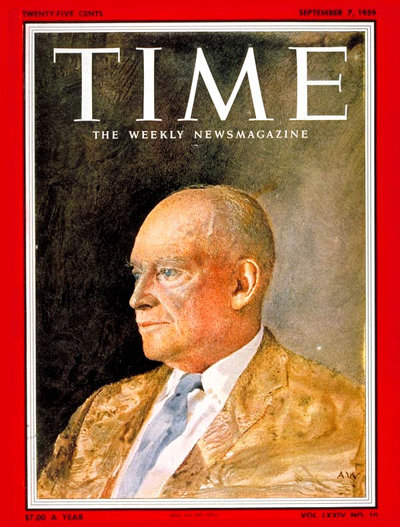 TIME Magazine Cover: Dwight Eisenhower -- Sep. 7, 1959