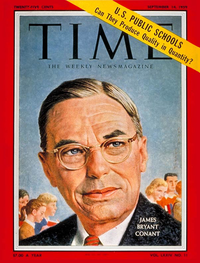 TIME Magazine Cover: James Bryant Conant -- Sep. 14, 1959