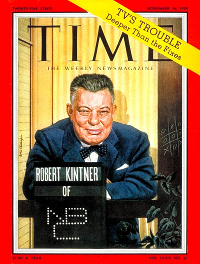 TIME Magazine Cover: Robert Kintner -- Nov. 16, 1959
