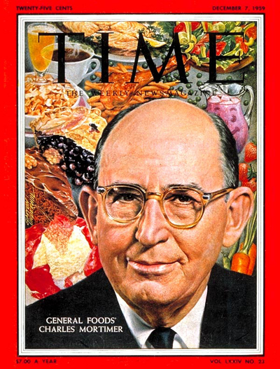 General Foods CEO Charles G. Mortimer