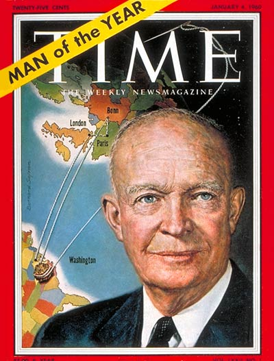 TIME Magazine Cover: Dwight D. Eisenhower, Man of the Year -- Jan. 4, 1960