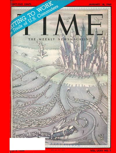 TIME Magazine Cover: U.S. Commuters -- Jan. 18, 1960