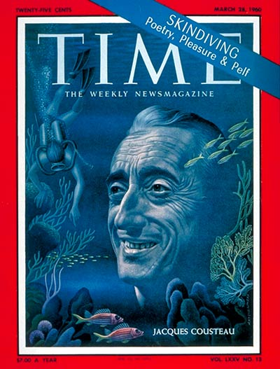 TIME Magazine Cover: Jacques Cousteau -- Mar. 28, 1960