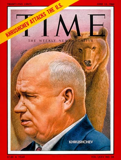 TIME Magazine Cover: Nikita Khrushchev -- June 13, 1960
