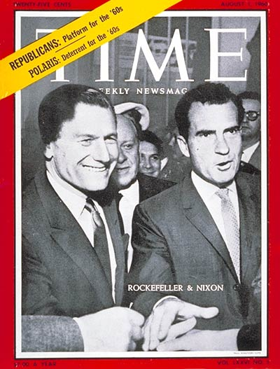 TIME Magazine Cover: Nelson Rockefeller, Richard M. Nixon -- Aug. 1, 1960