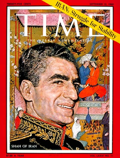TIME Magazine Cover: Shah of Iran -- Sep. 12, 1960
