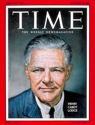 TIME Magazine Cover: Henry Cabot Lodge -- Sep. 26, 1960