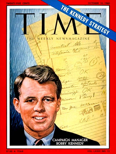 TIME Magazine Cover: Robert F. Kennedy -- Oct. 10, 1960
