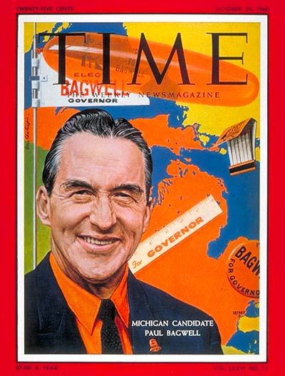TIME Magazine Cover: Gov. Paul Bagwell -- Oct. 24, 1960