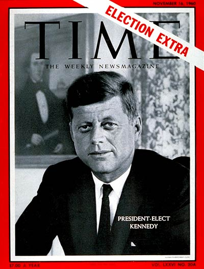 TIME Magazine Cover: John F. Kennedy -- Nov. 16, 1960