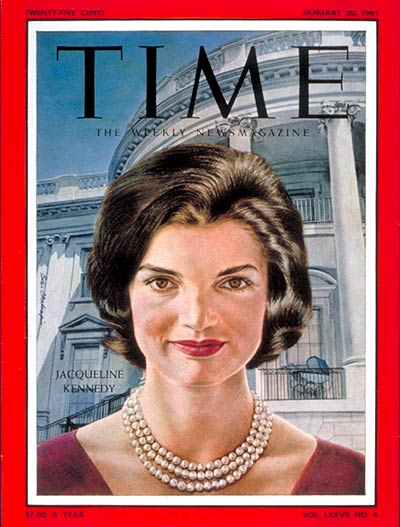 TIME Magazine Cover: Jacqueline Kennedy -- Jan. 20, 1961