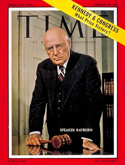 TIME Magazine Cover: Samuel T. Rayburn -- Feb. 10, 1961