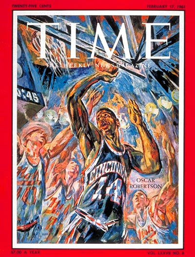 TIME Magazine Cover: Oscar Robertson -- Feb. 17, 1961