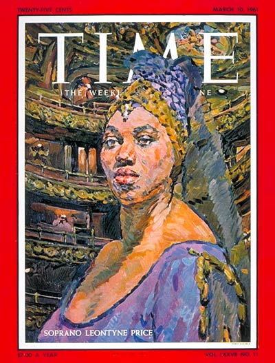 TIME Magazine Cover: Leontyne Price -- Mar. 10, 1961