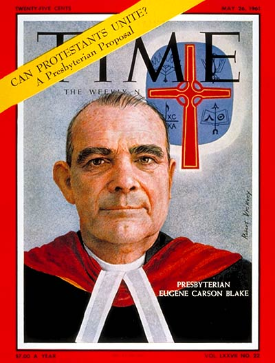 TIME Magazine Cover: Eugene Carson Blake -- May 26, 1961