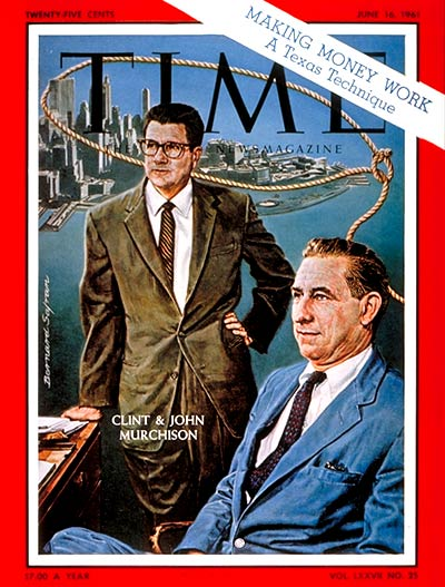 TIME Magazine Cover: Clint & John Murchison -- June 16, 1961