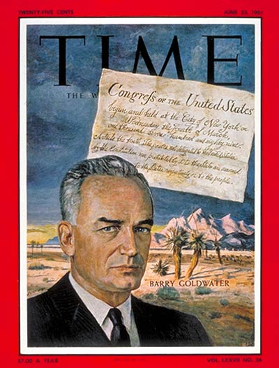 TIME Magazine Cover: Barry Goldwater -- June 23, 1961