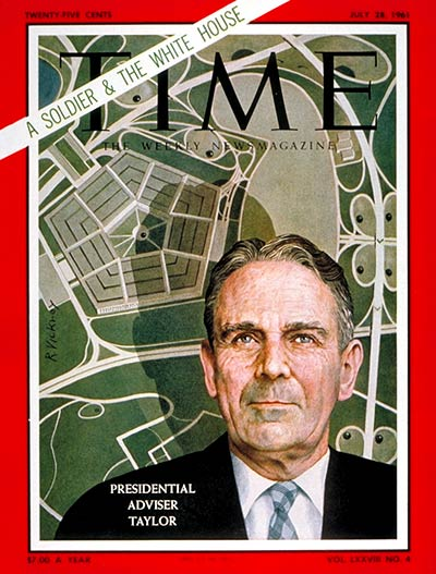 TIME Magazine Cover: General Maxwell Taylor -- July 28, 1961