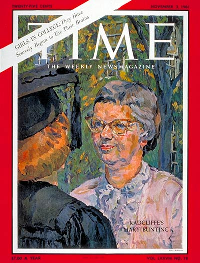 TIME Magazine Cover: Mary Bunting -- Nov. 3, 1961